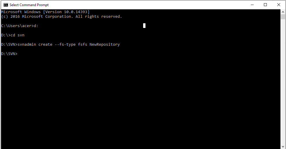 creating-svn-repository-in-command-prompt