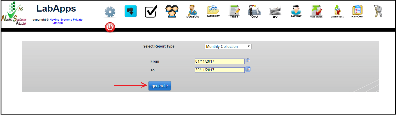 monthly report generate button