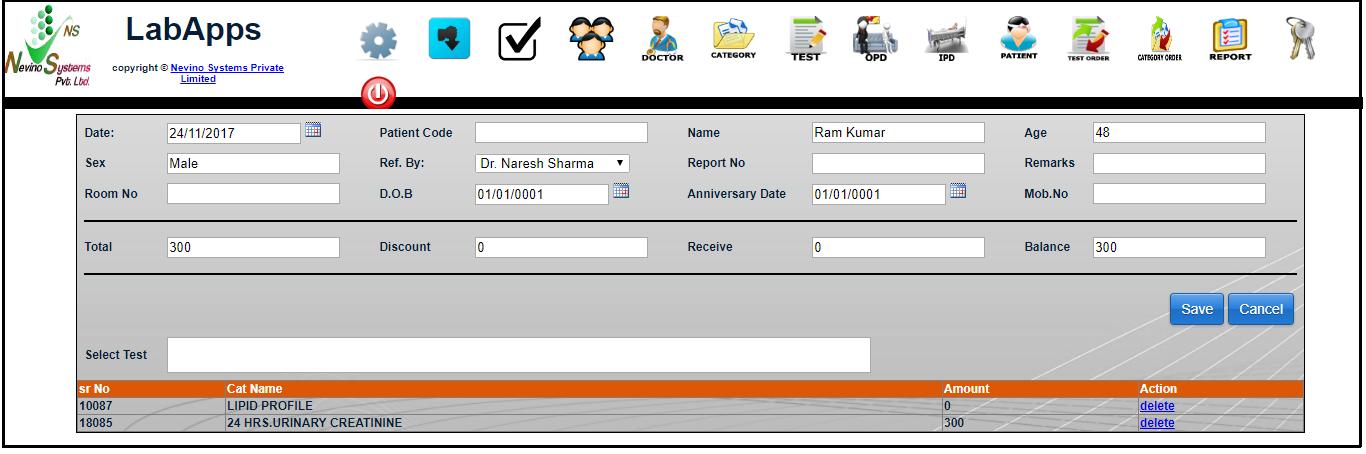 nevino lab booking edit window