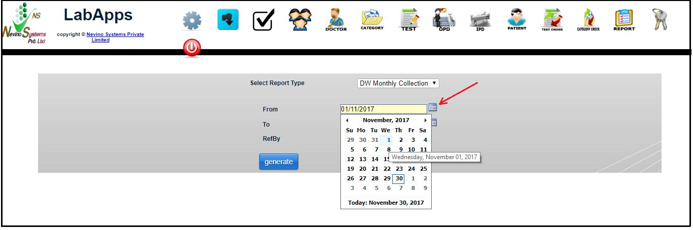 select start date